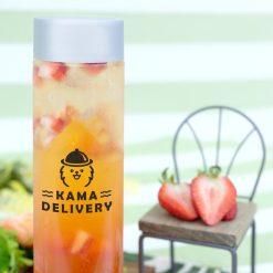【果茶】戀上草莓玫瑰茶|單點到會外賣飲品|Kama Delivery