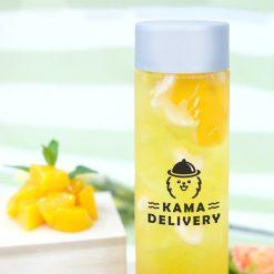 【果茶】粒粒荔枝蜜桃茶|單點到會外賣飲品|Kama Delivery