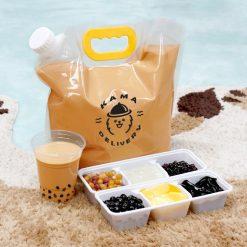 【特大容量】袋裝DIY奶茶|單點到會外賣飲品|Kama Delivery