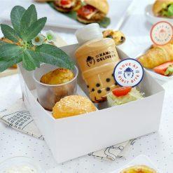 四格小食盒(咸點)|一人一盒|衛生安全|Kama Delivery到會外賣服務