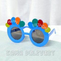 生日眼鏡(深藍配色)|到會派對用品|Kama Delivery