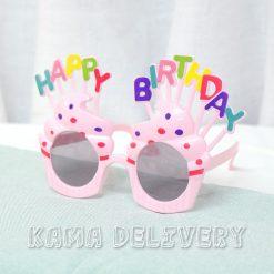 生日眼鏡(粉紅配色)|到會派對用品|Kama Delivery