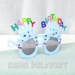 生日眼鏡(粉藍配色)|到會派對用品|Kama Delivery