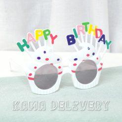 生日眼鏡(純白配色)|到會派對用品|Kama Delivery