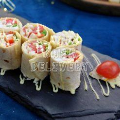 蘆筍番茄雞脾菇墨西哥卷|單點到會小食|Kama Delivery
