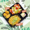 柚子沙律、純素樂樂雞、欖油野菌雜菜、南瓜松子仁意大利粉|Kama一人素食餐盒|Kama Delivery素食到會外賣