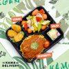 柚子沙律、純素樂樂雞、欖油野菌雜菜、未來肉醬意大利粉|Kama一人素食餐盒|Kama Delivery素食到會外賣