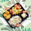 柚子沙律、純素樂樂雞、欖油野菌雜菜、黑松露野菌意大利飯|Kama一人素食餐盒|Kama Delivery素食到會外賣